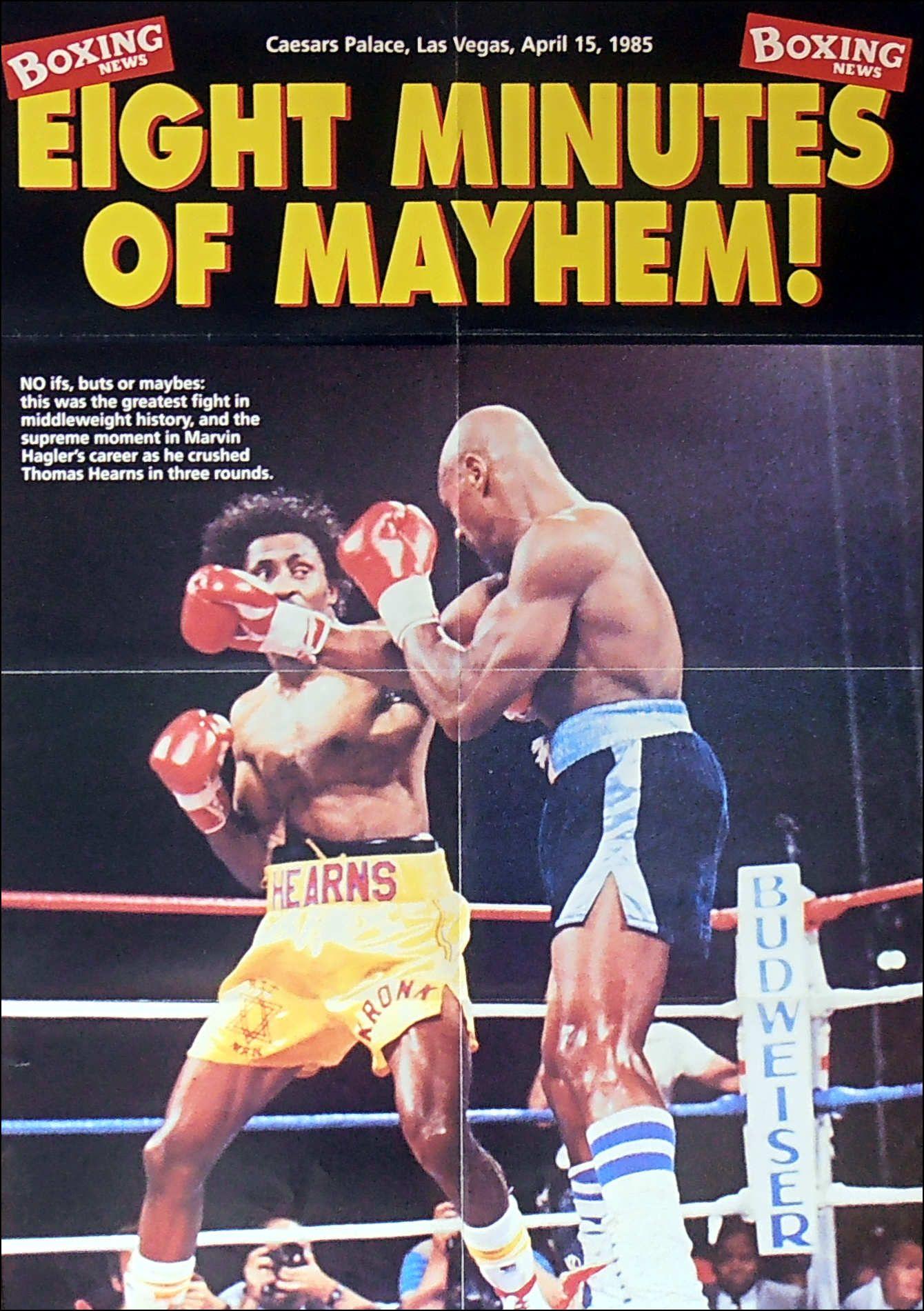 Tommy Hearns Vs Marvin Hagler Poster 1985 Iskanje Google Muay Thai Workouts Sport Inspiration Man Up