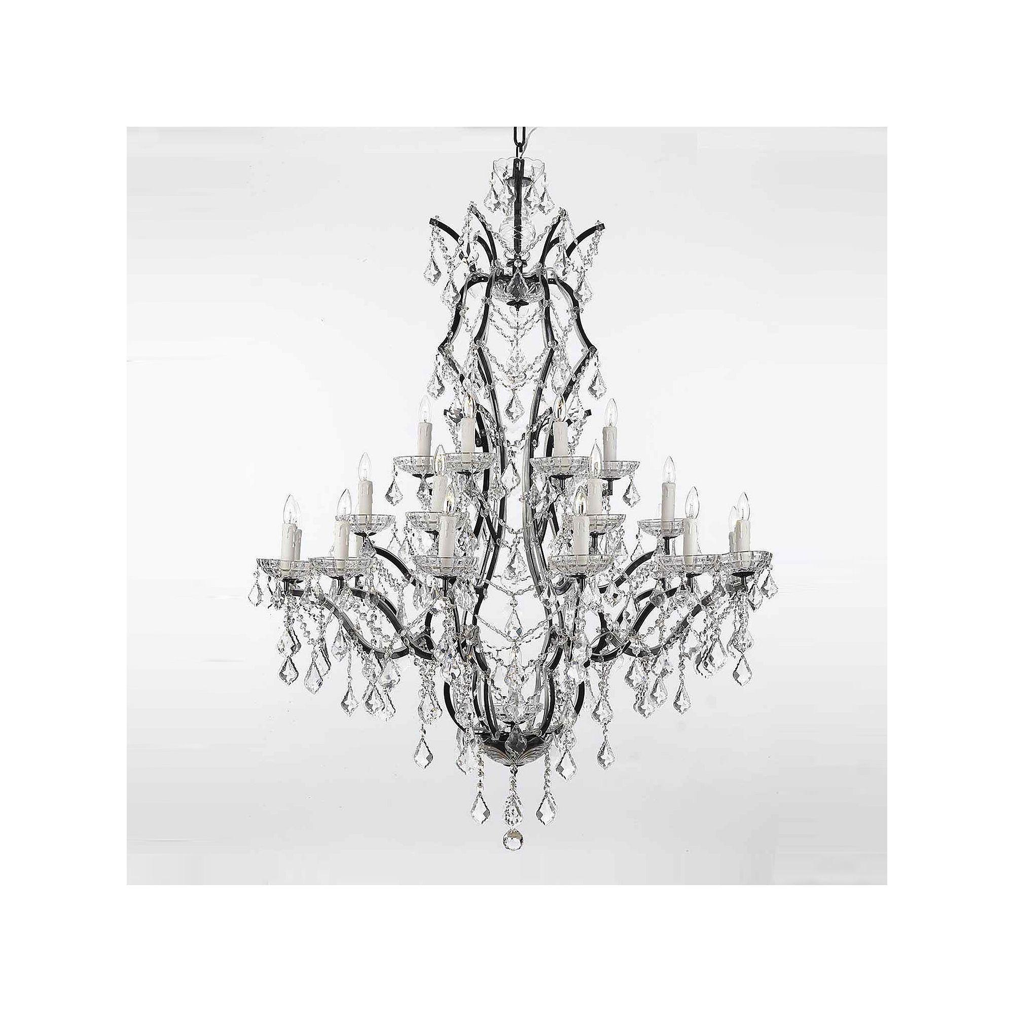 Gallery rococo 25 light chandelier black aloadofball Choice Image