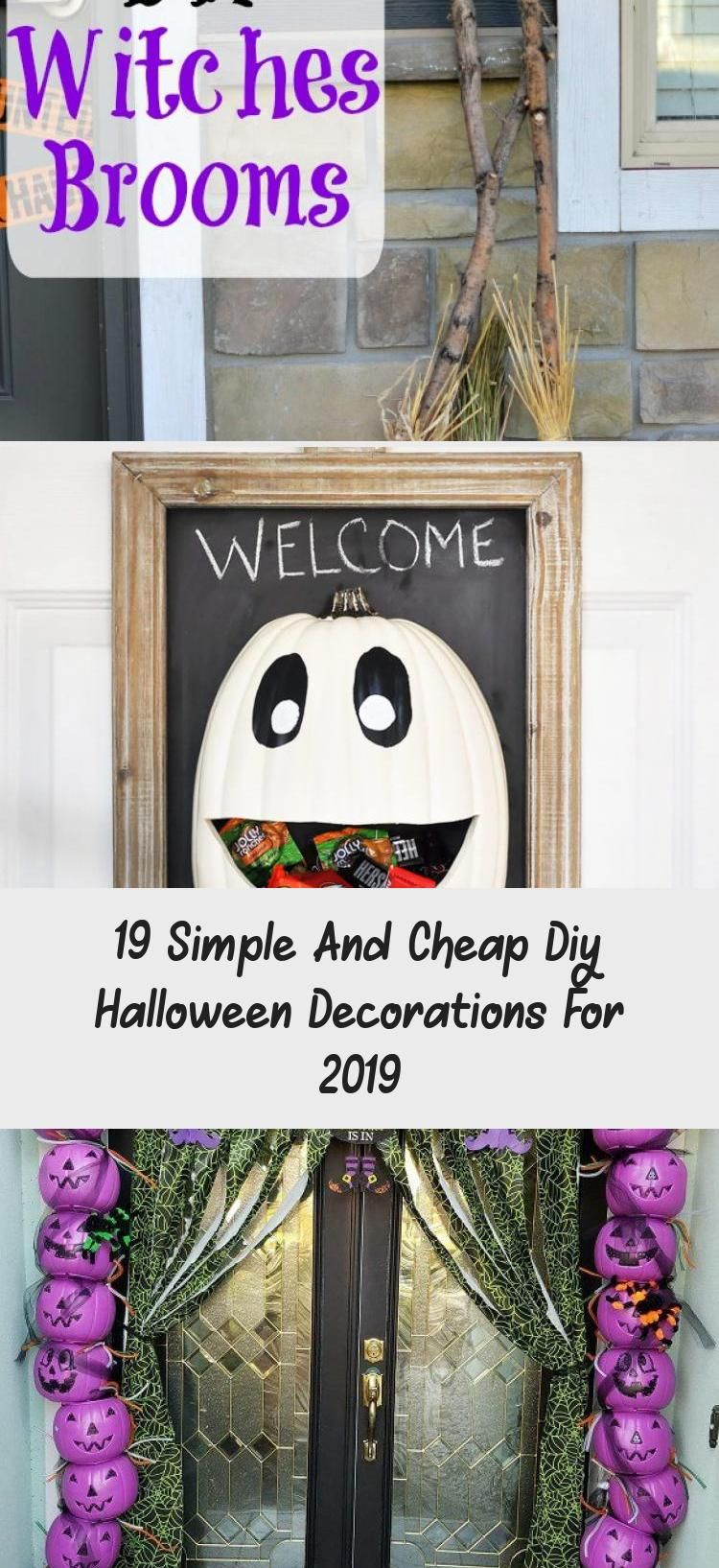 19 Simple And Cheap Diy Halloween Decorations For 2019 #cheapdiyhalloweendecorations