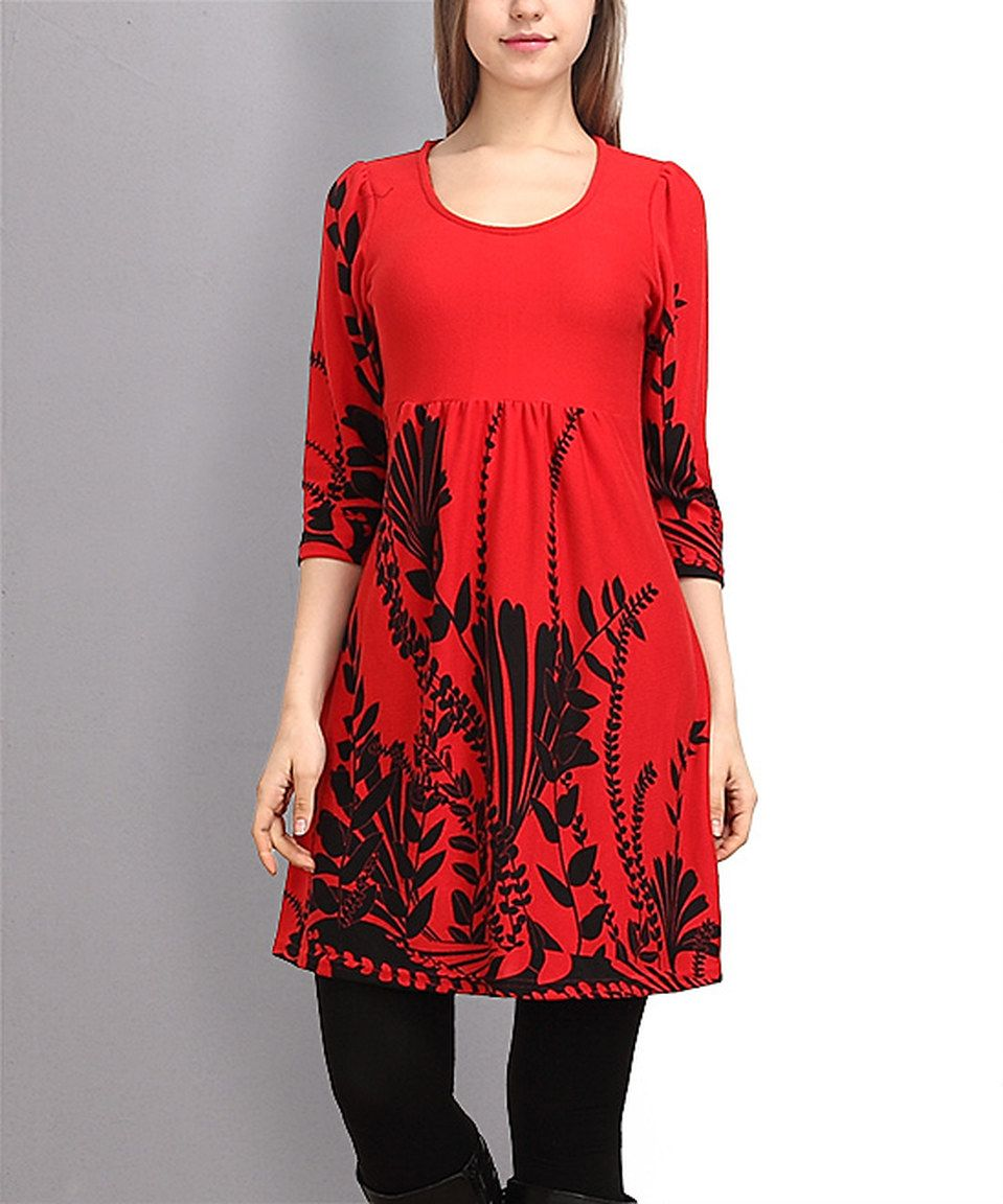 This red u black fern empirewaist dress by reborn collection is