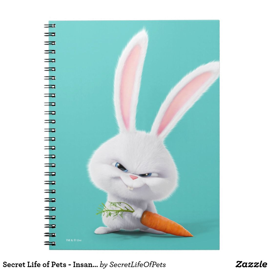Secret Life Of Pets Insanely Cute Snowball Notebook Zazzle Com