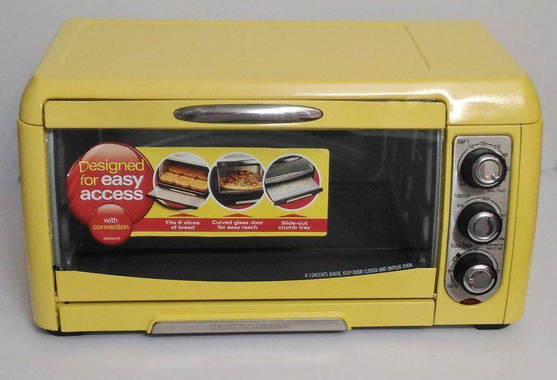 Yellow Hamilton Beach Toaster Oven Convection Oven Yellow Etsy