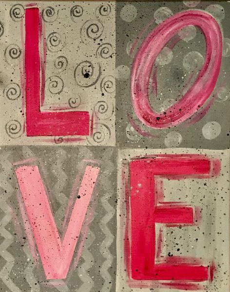 LOVE Painting – DIY Painting Tutorial – For Beginners