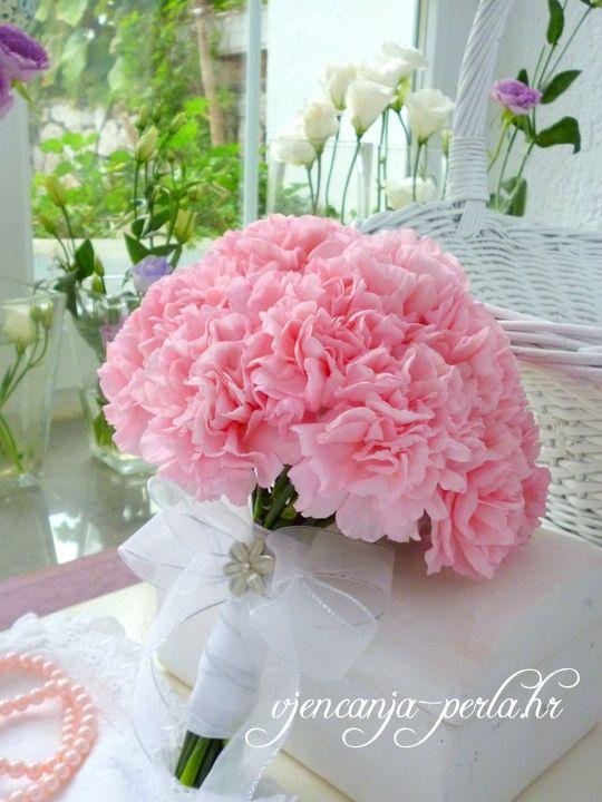Organizacija Vjencanja Rijeka Zagreb Carnation Wedding Flowers Wedding Bouquets Pink Carnation Wedding