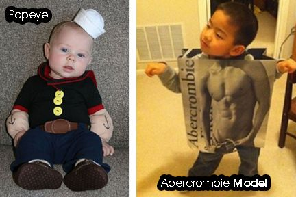 take some cues for this #popeye and #abercrombiemodel costumes for - halloween costume ideas boys