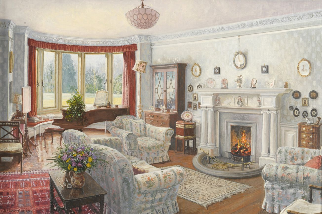 Dora's a drawing Room by Stephen Darbishire R.B.A. (b.1940)