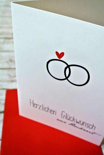 gl ckwunschkarte zur hochzeit ring cards craft and scrapbook. Black Bedroom Furniture Sets. Home Design Ideas