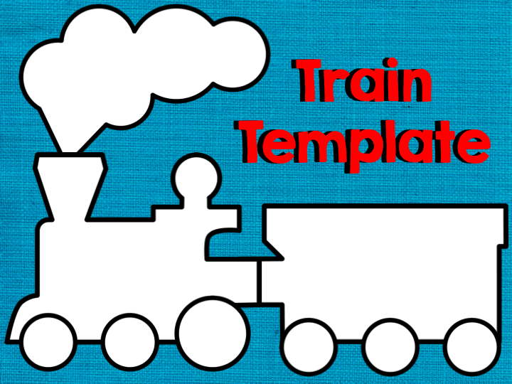 Train bulletin board polar express train pattern for Express template engines