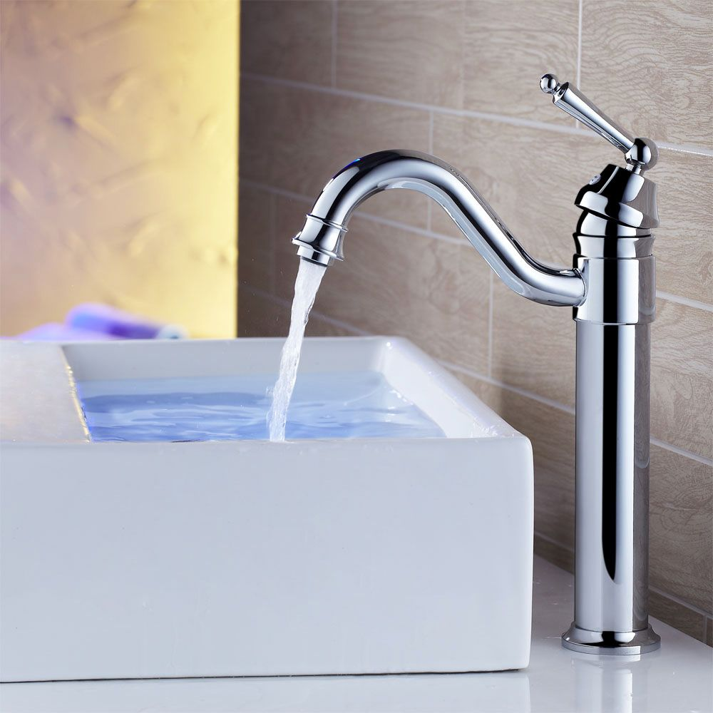 Adena Single Hole Vessel Faucet in Mid-Tall | Bathroom Products ...