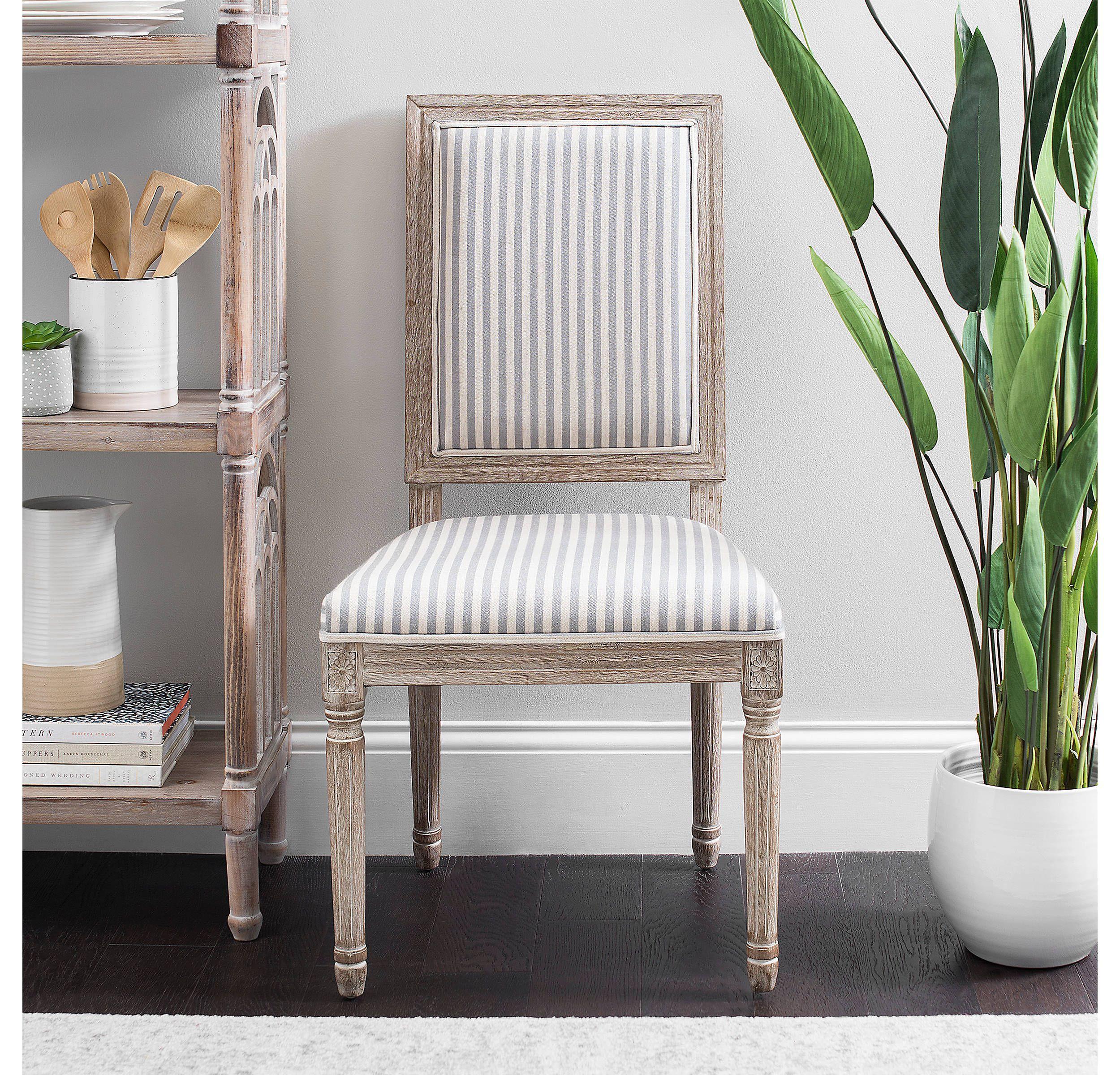Gray Stripe Rectangular Louis Dining Chair Kirklands Gray Dining Chairs Dining Room Chairs Swivel Chair Living Room