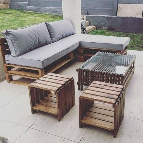 gartenm bel aus paletten aktuelle ideen f r sommer 2018 piha patio terassi ym gartenm bel. Black Bedroom Furniture Sets. Home Design Ideas