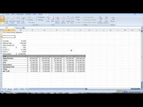 Proforma Income Statement  Youtube  Computer Skills