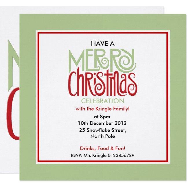 Merry Christmas margarita green Square Invitation | Zazzle.com #christmasmargarita