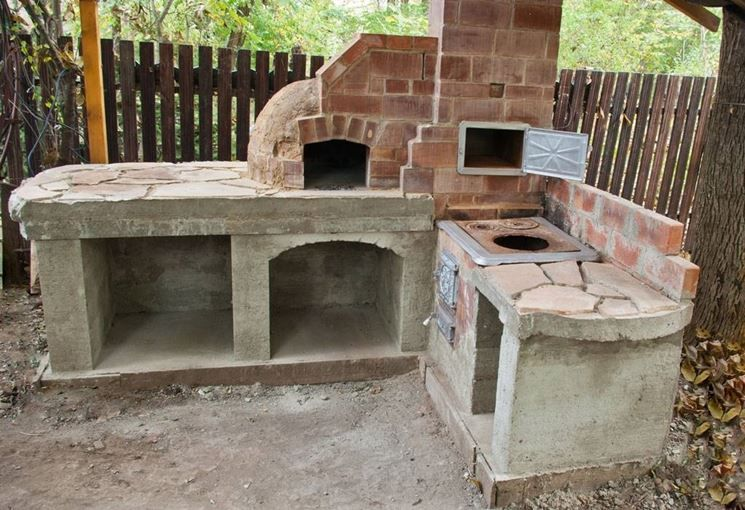 Camini Esterni In Muratura : Cucine esterne da giardino in ...
