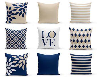 navy throw pillows pillow covers