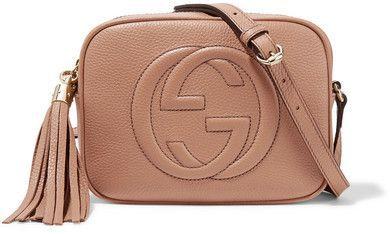 a79617bd2e8 Gucci Soho Disco Textured-leather Shoulder Bag - Sand