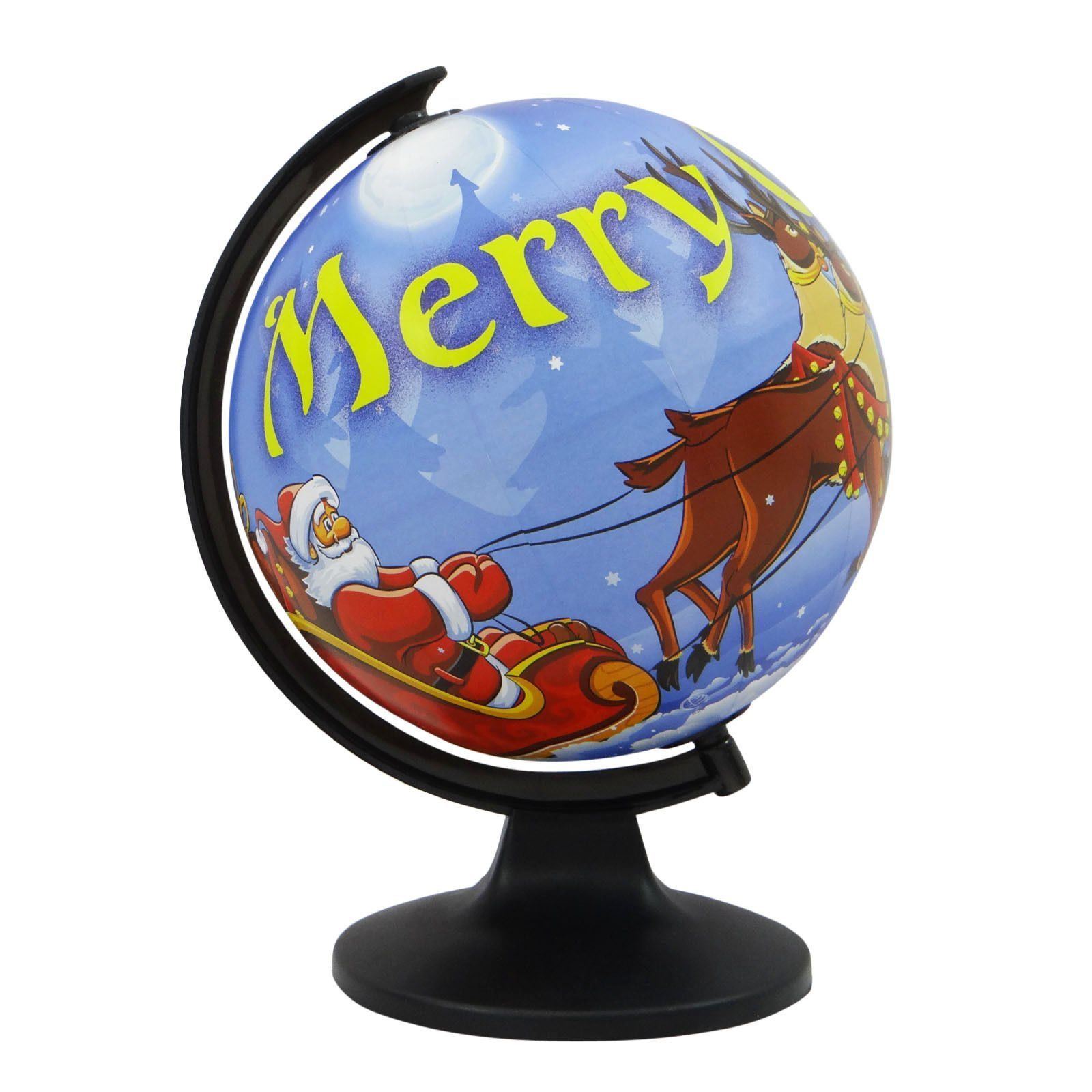"""Desktop Table Decor Rotating Globes Ocean Geographical Earth World Map Globe. Easy-to read names. Globe Circumference: 25.3"""" inches (approx). Ball Diameter: 8"""" Inches (approx). Base(Diameter): 6"""" Inches (approx). If you have any question, you can message to us."""