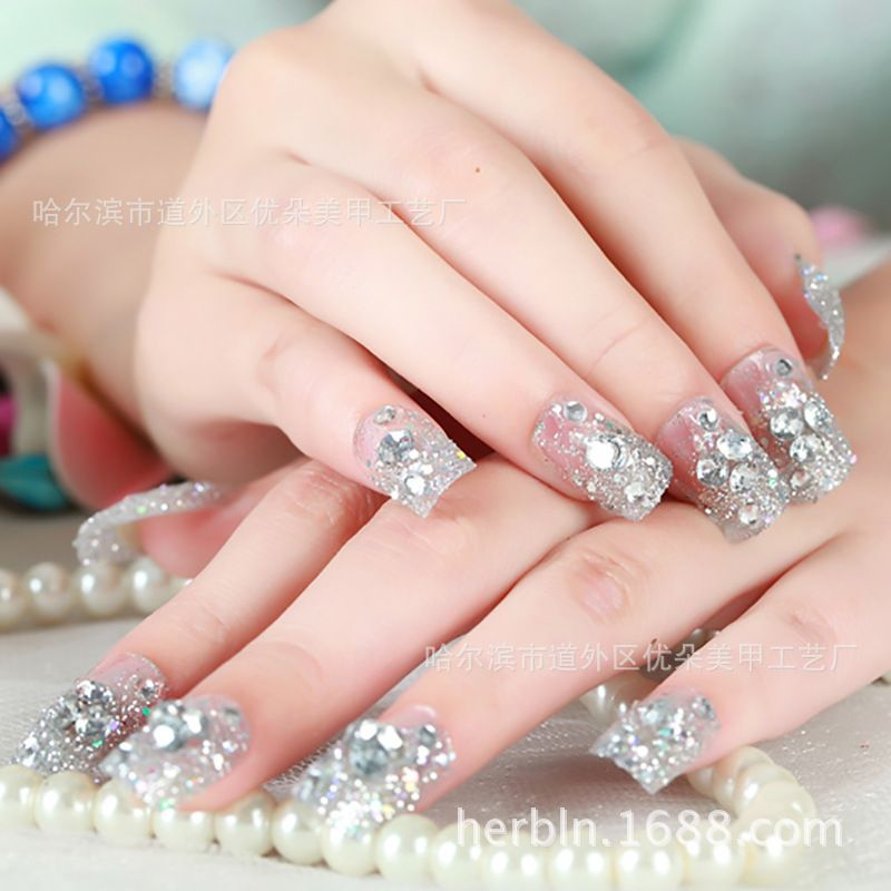 Hot Sale Clear Crystal Nail Art Patch Fake False Finger, Art Sticker ...