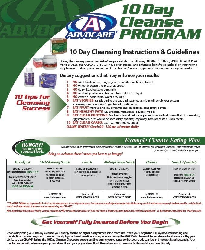 advocare cleanse plan 10 Cleanse Program Ask me about AdvoCare - 24 day challenge guide