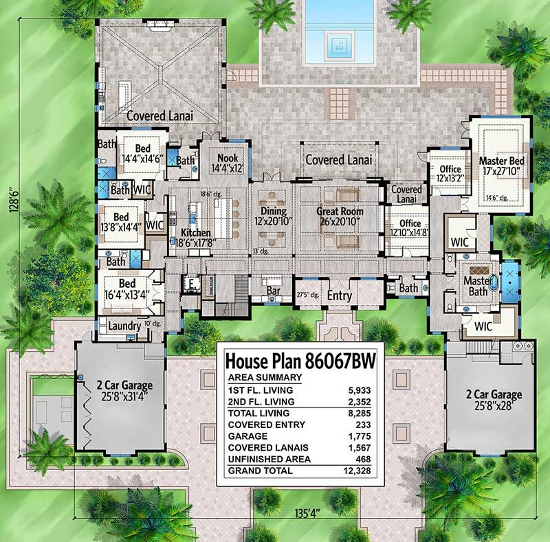 Plan 86067bw Stunning 7 Bed Luxury House Plan Luxury House Plans House Plans Luxury House