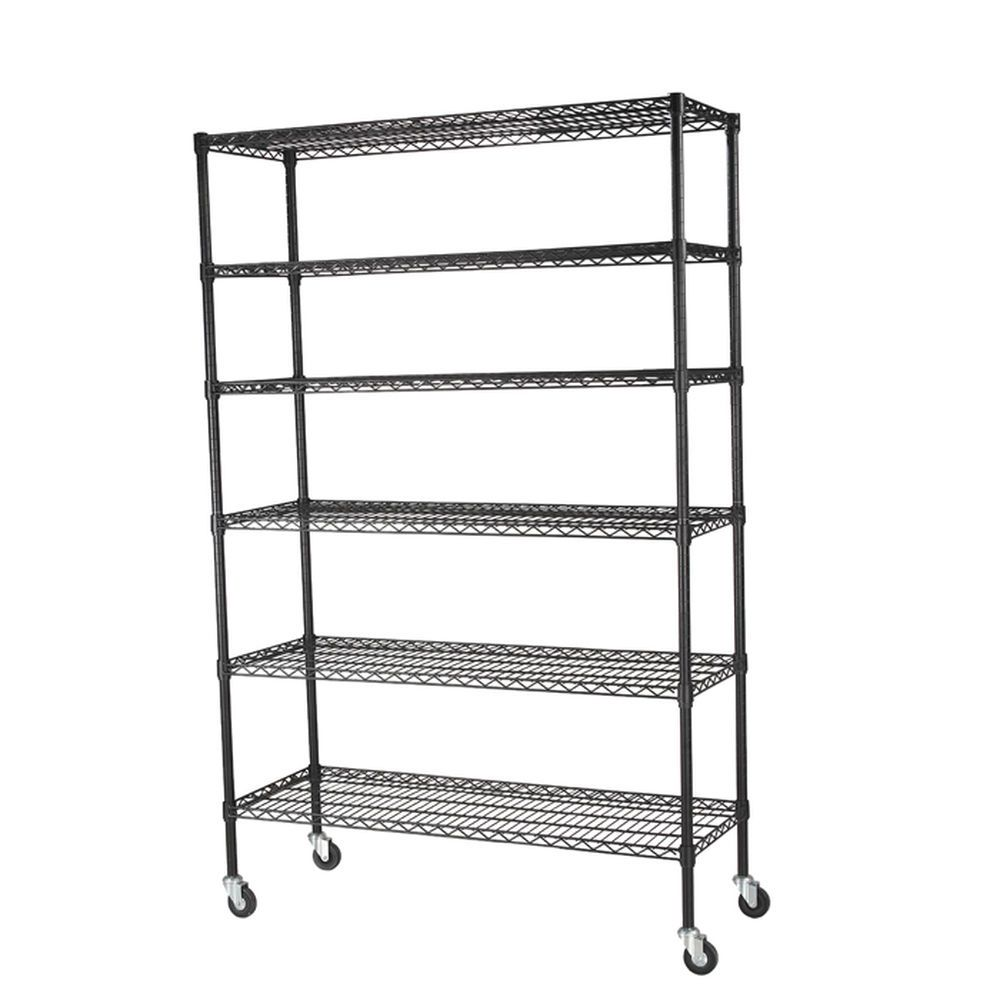 6-Level Mobile Wire Shelving Unit   Organizing products   Pinterest ...