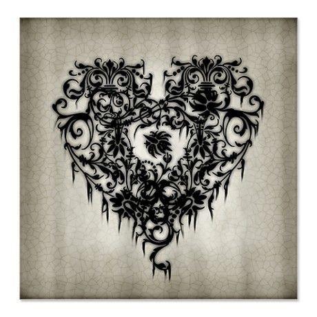 Classic Gothic Heart Tattoo Design