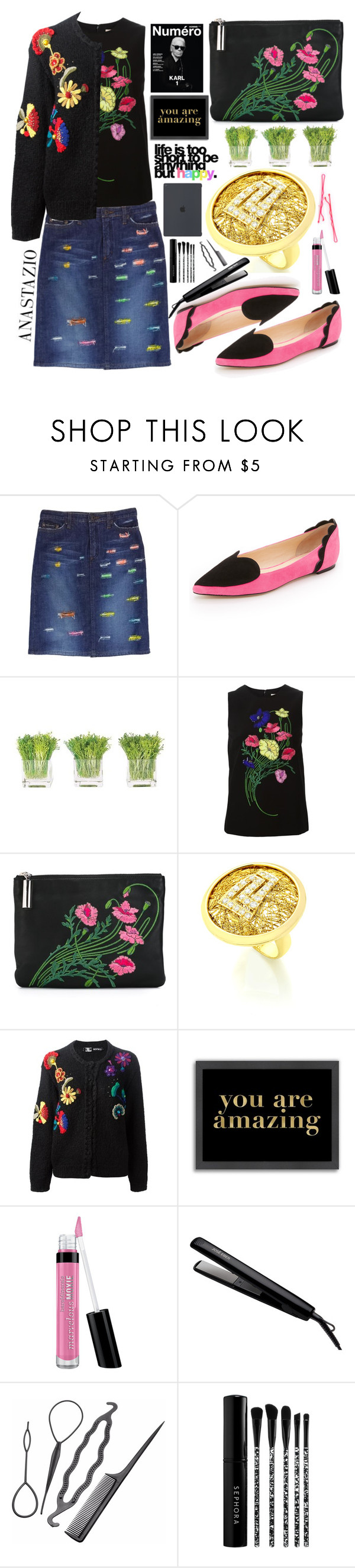 """Anastazio-Winter to Spring"" by anastazio-kotsopoulos ❤ liked on Polyvore featuring Dolce&Gabbana, Isa Tapia, NDI, Christopher Kane, Kansai Yamamoto, Americanflat, Bare Escentuals, José Eber and Sephora Collection"