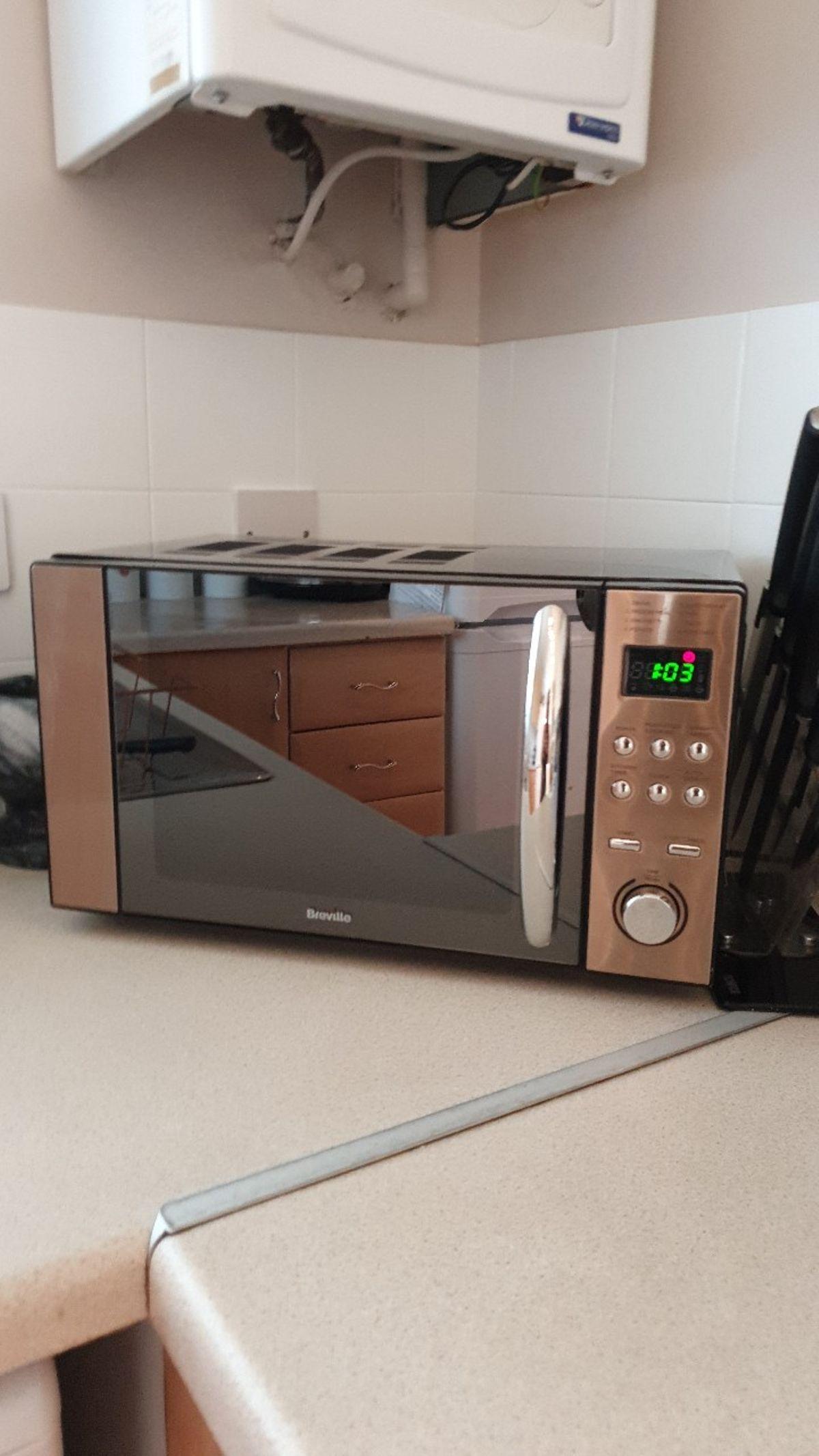 breville microwave rose gold online