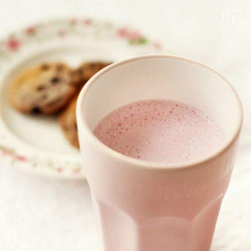Fresa con leche! <3