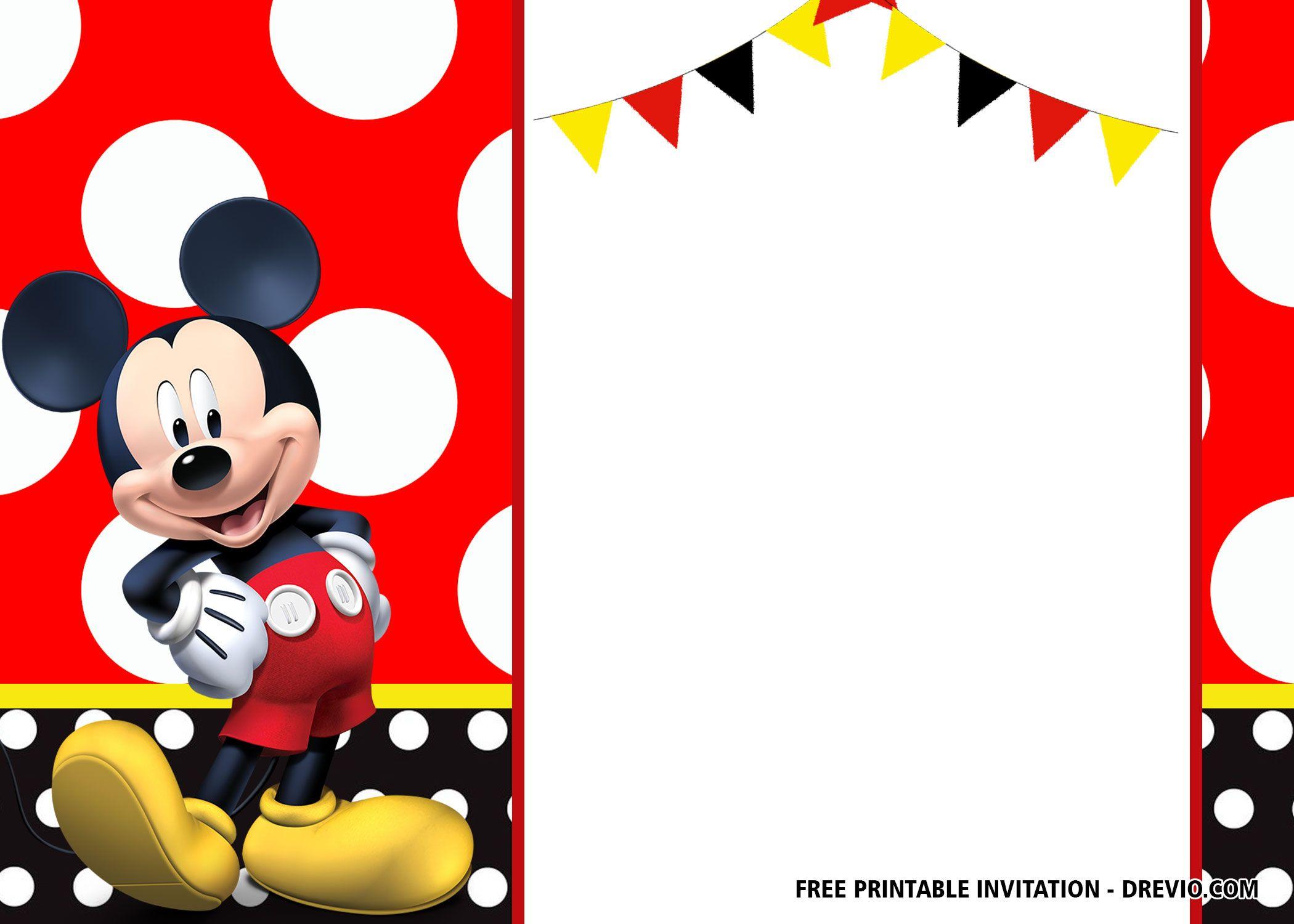 free mickey mouse birthday invitation
