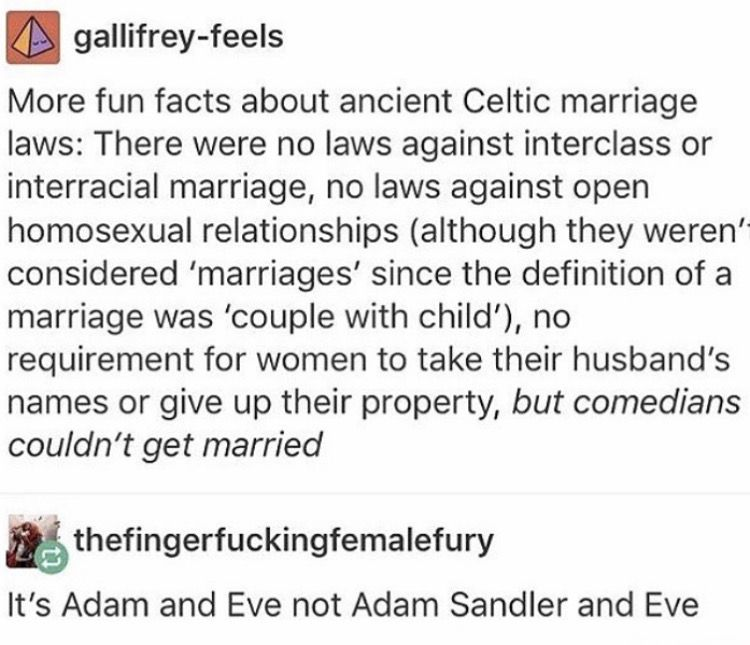 Adam And Eve Not Adam Sandler And Eve Celtic Marriage Wedding