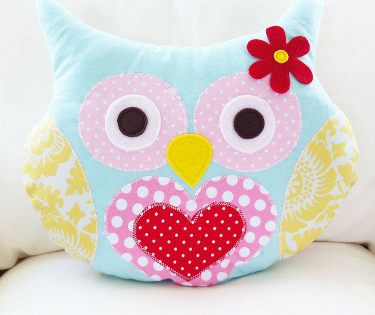 Cómo hacer cojines de tela en forma de búho. ¡Nos encantan! | Owl ...