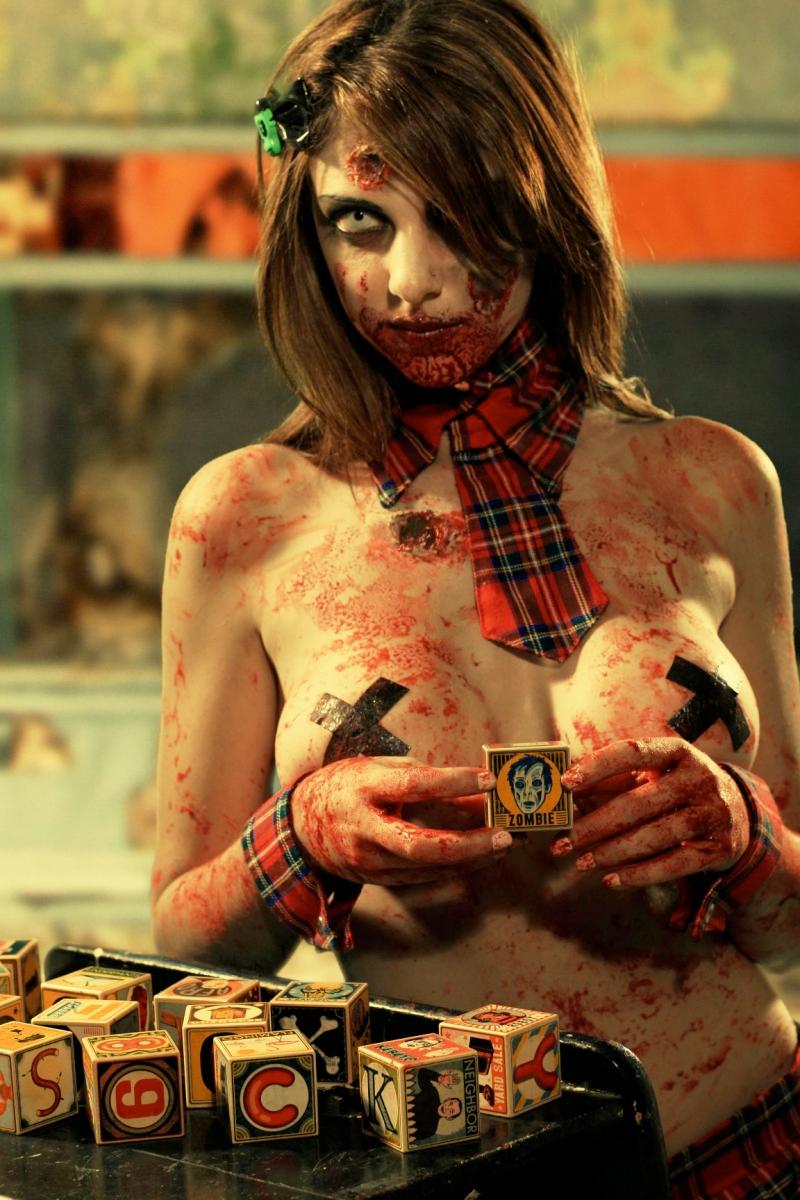 Zombie Tramp Jenna Drouin Beautiful Horror Zombie Girl Horror