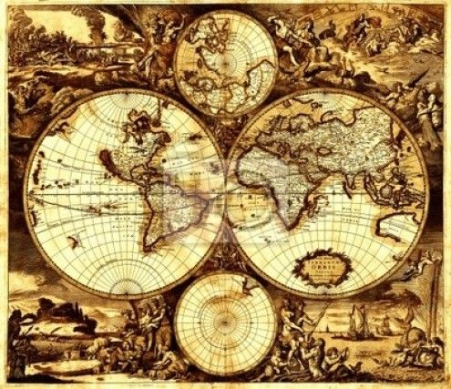 Sepia World Map Home Decor Ideas Pinterest Antique World Map Old World Maps And Old Maps