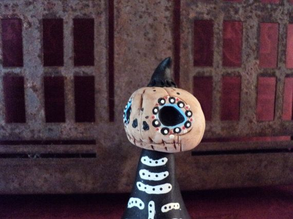 Day Of The Dead  Mr. Halloween Pumpkin by TheSpottedTree on Etsy