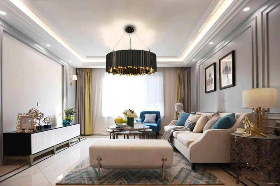 low ceiling living room pendant