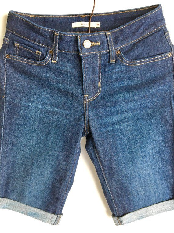ecaf42b2 Levi's Shorts, Bermuda Shorts, Cuffed Long Denim Shorts, Jean Shorts,  Women's Sz 2