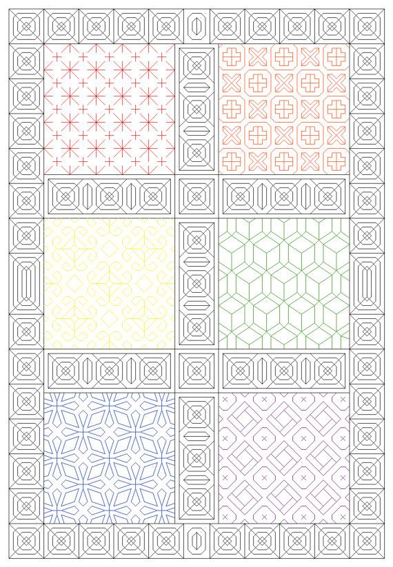 Rainbow Sampler- Blackwork Embroidery Pattern | blackwork ...