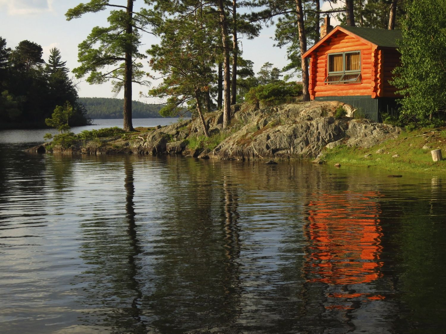 cabin minnesota img family lake cabins ice in fishing rentals red