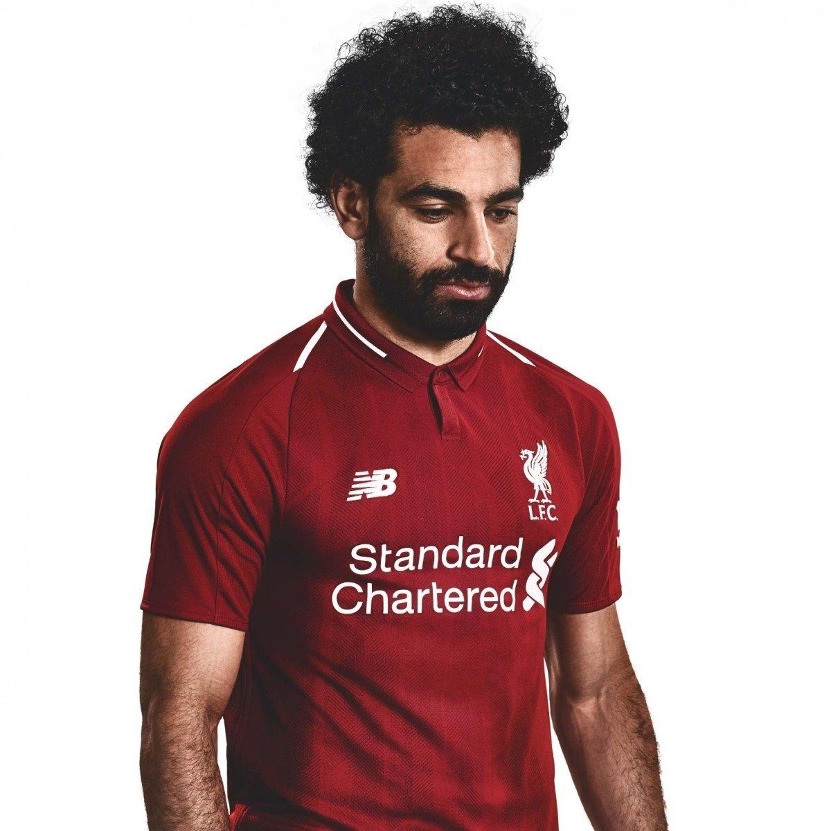 Mohamed Salah Com A Camisa 1 Do Liverpool 2018 2019 Premier League Camisa Do Timao Camisa