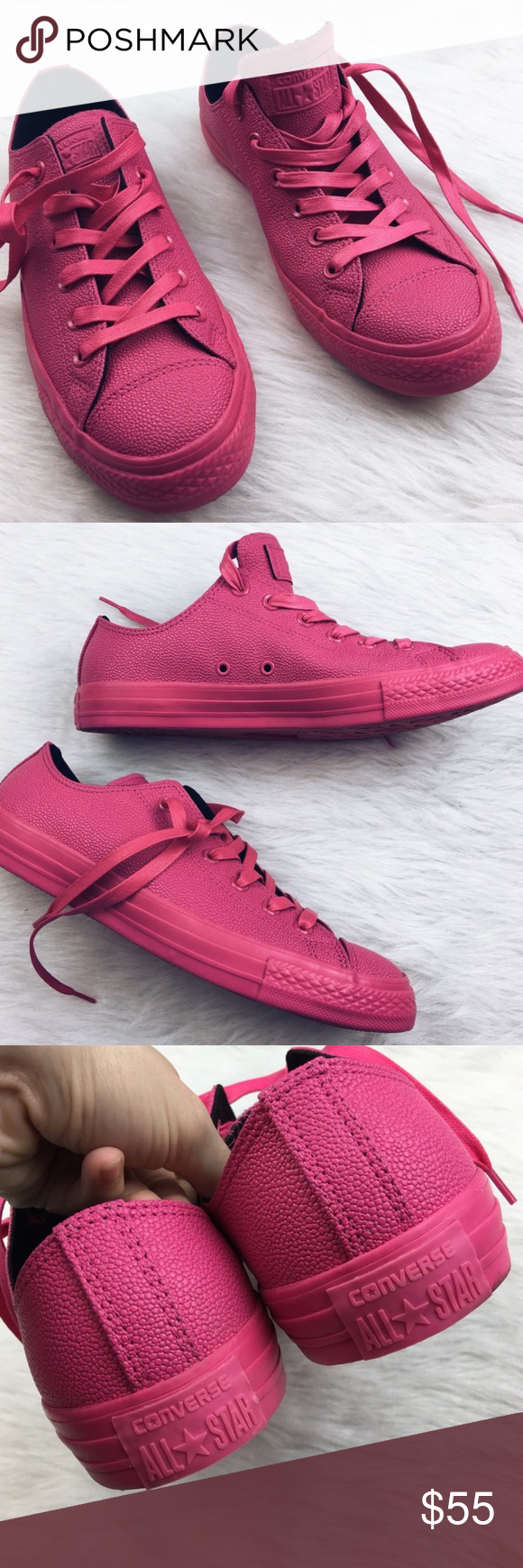 7e621857ee8c Converse unisex hot pink all star tennis shoes Brand new without box. Size  10.5 in