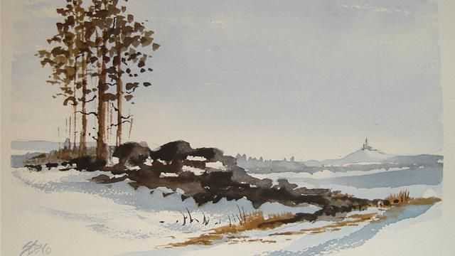 Watercolor Paintings Of Landscapes Tutorials | Water Colour ...