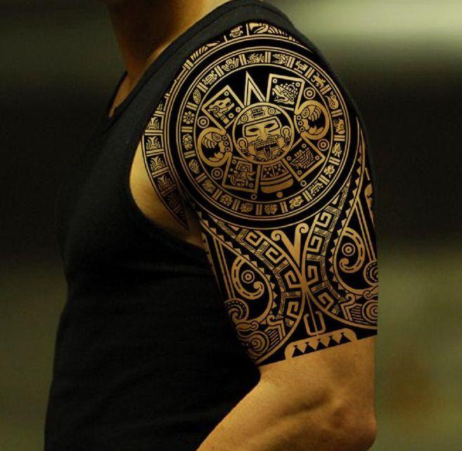 Tattoo Aztecki Tatuaż Na Ramieniu Tattoo Tatuagem