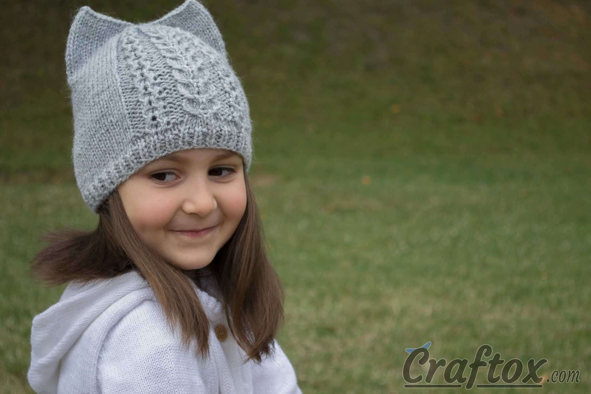 Cat Ear Hat Knitting Pattern Simple Design Inspiration