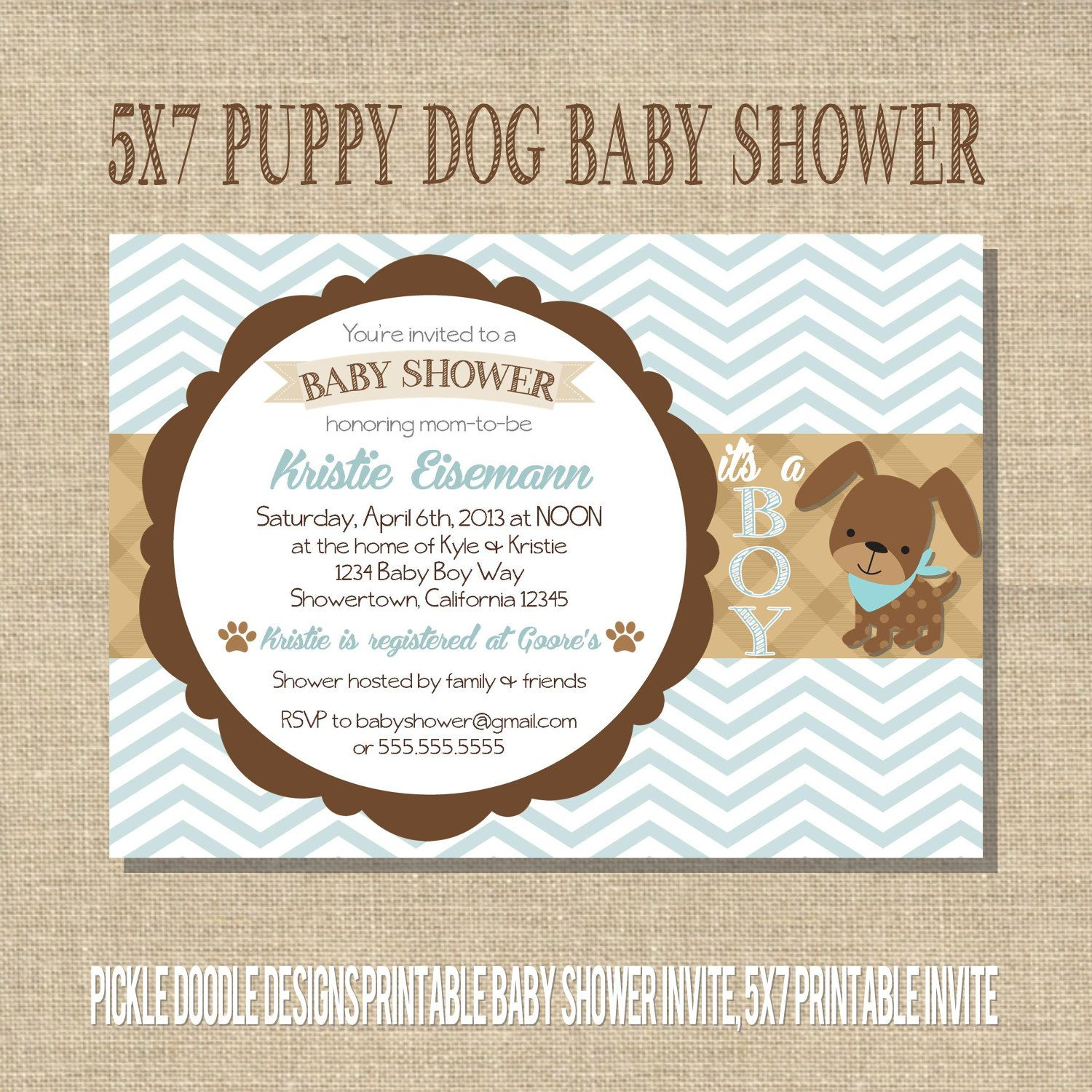 Puppy dog baby boy shower invitation blue by pickledoodledesigns puppy dog baby boy shower invitation blue by pickledoodledesigns 1600 filmwisefo Image collections