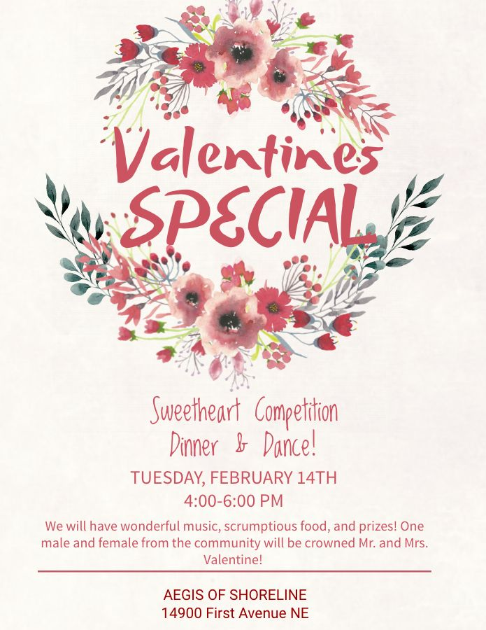 Valentines Day Social Media Poster Flyer Graphic Design Template