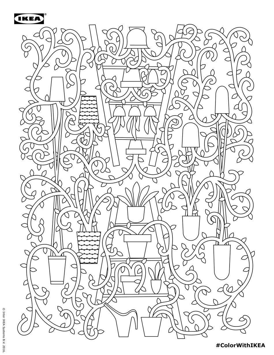 Coloring pages furniture - Ikea S Adult Coloring Book Will Take Your Love Of Furniture To New Heights