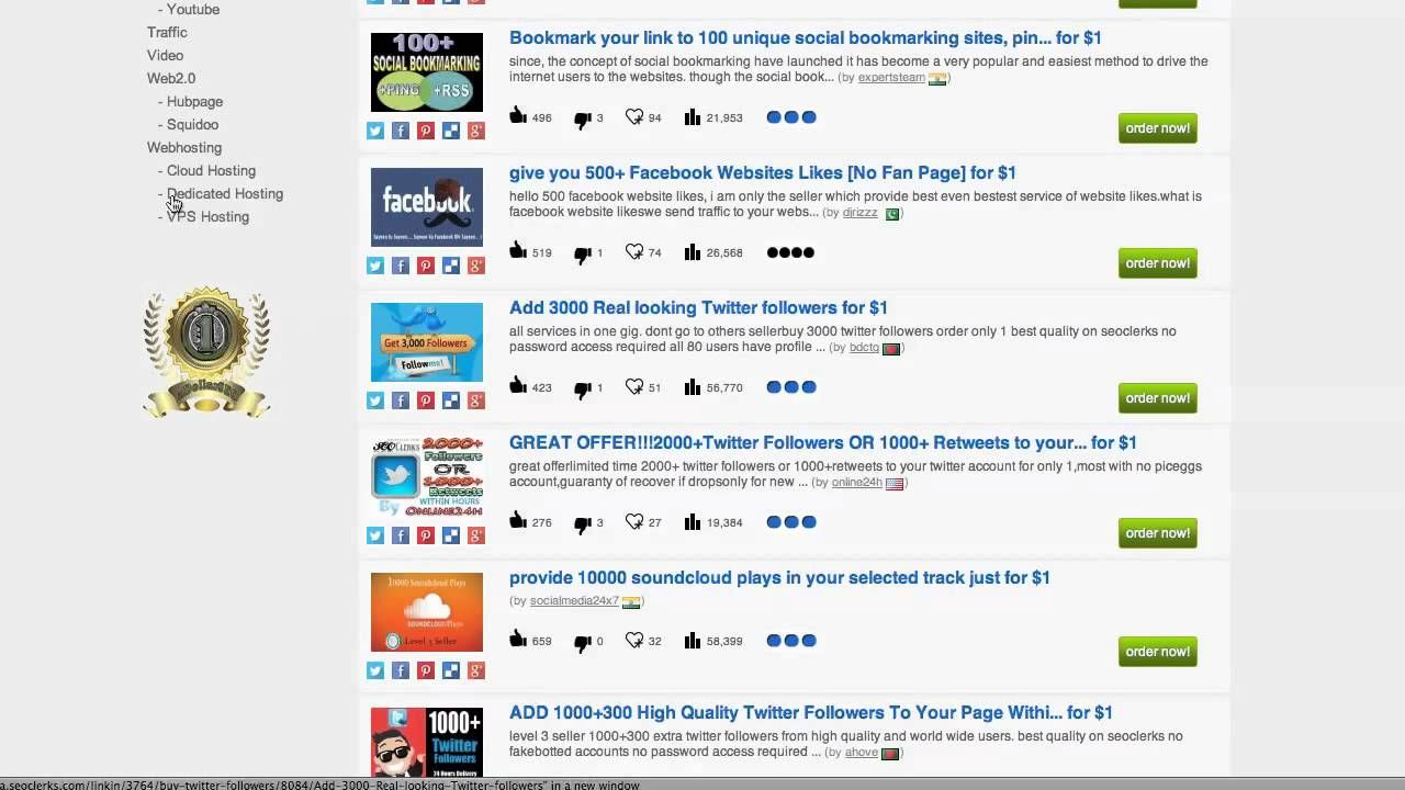 Thousands of TOP Selling SEO Gigs for