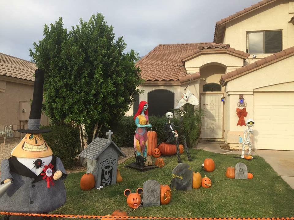 Nightmare Before Christmas Halloween yard display. All