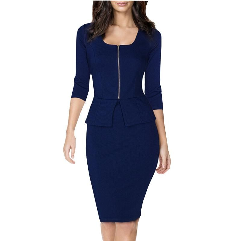 Elegant womens business suits blazer with skirts formal for Office uniform design catalogue